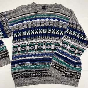 Vintage Sweater By Peter England Coogi Style XL